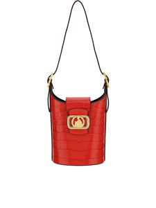 Lanvin - Small Swan bucket bag in red