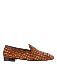 Fratelli Rossetti - Woven leather slip-on shoes in brown