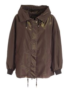 Moorer - Fiona hooded jacket in green