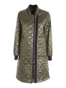 Moorer - Alina quilted jacket in green