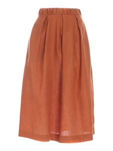 Paolo Fiorillo - Slit pockets skirt in brown