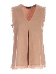 Paolo Fiorillo - Micro beads top in pink