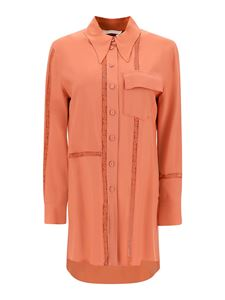 Chloé - Crêpe longuette shirt in orange