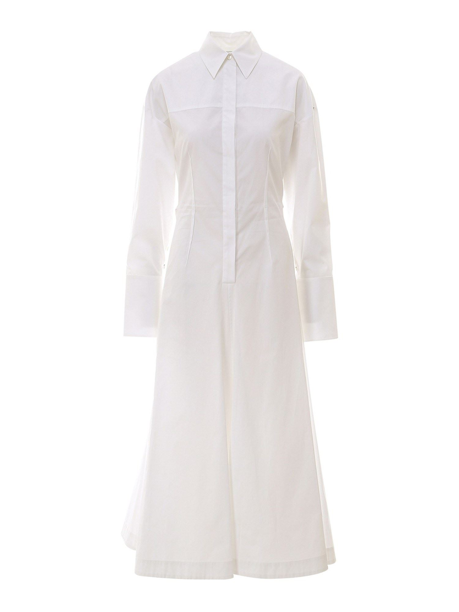 Sportmax COTTON MAXI DRESS IN WHITE