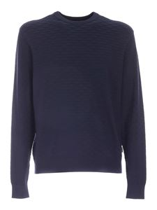 Emporio Armani - Ribbed details sweater in blue