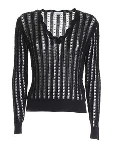 Ballantyne - V-neck sweater in black