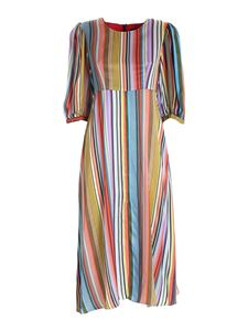 PS by Paul Smith - Striped satin multicolor dress
