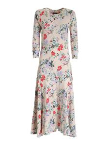 POLO Ralph Lauren - Floral print knitted dress in beige