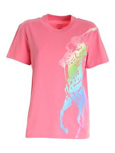 POLO Ralph Lauren - Printed maxi logo T-shirt in coral color