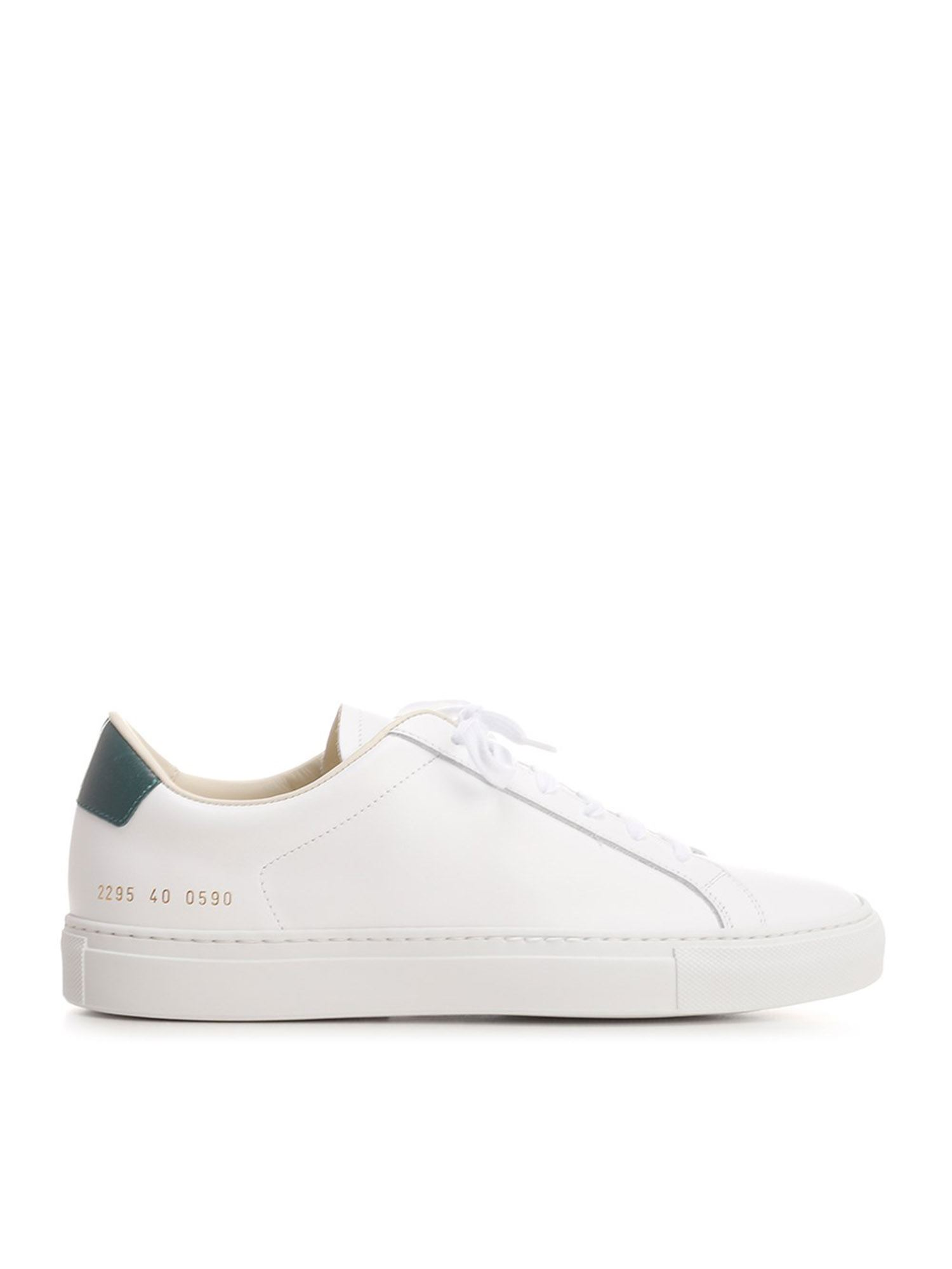 Common Projects RETRO SNEAKERS IN WHITE AND GREEN