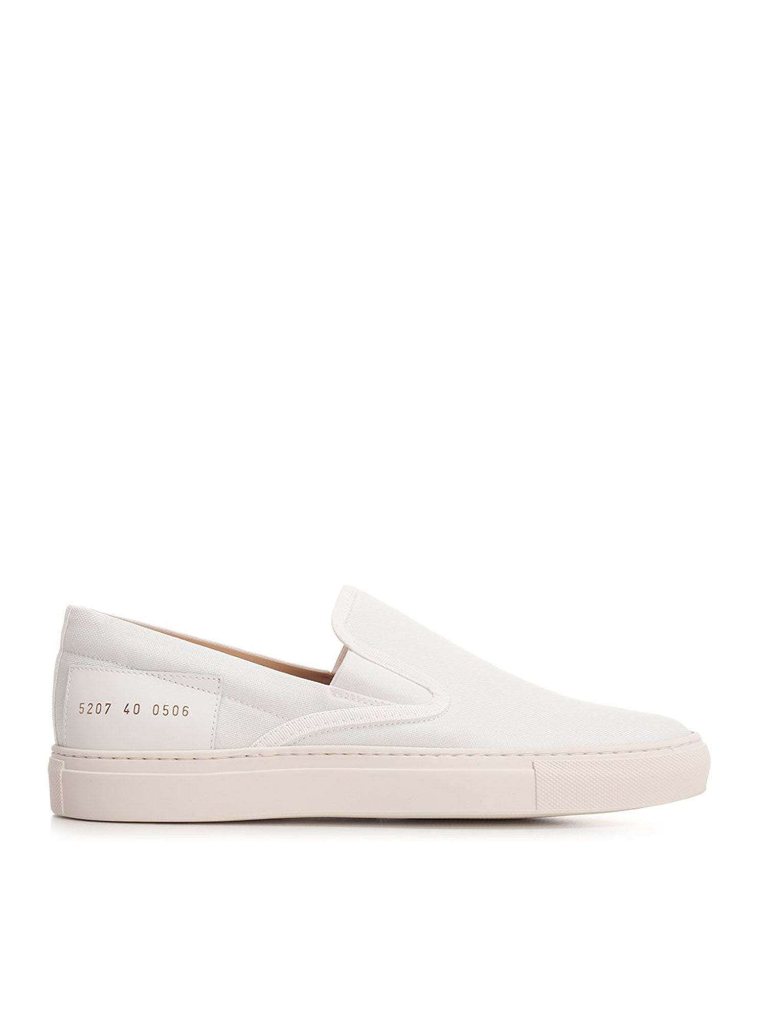 Common Projects Sneakers CANVAS SLIP ON SNEAKERS IN WHITE