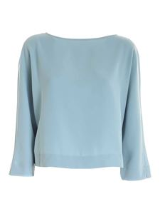 Emporio Armani - Cropped blouse in light blue