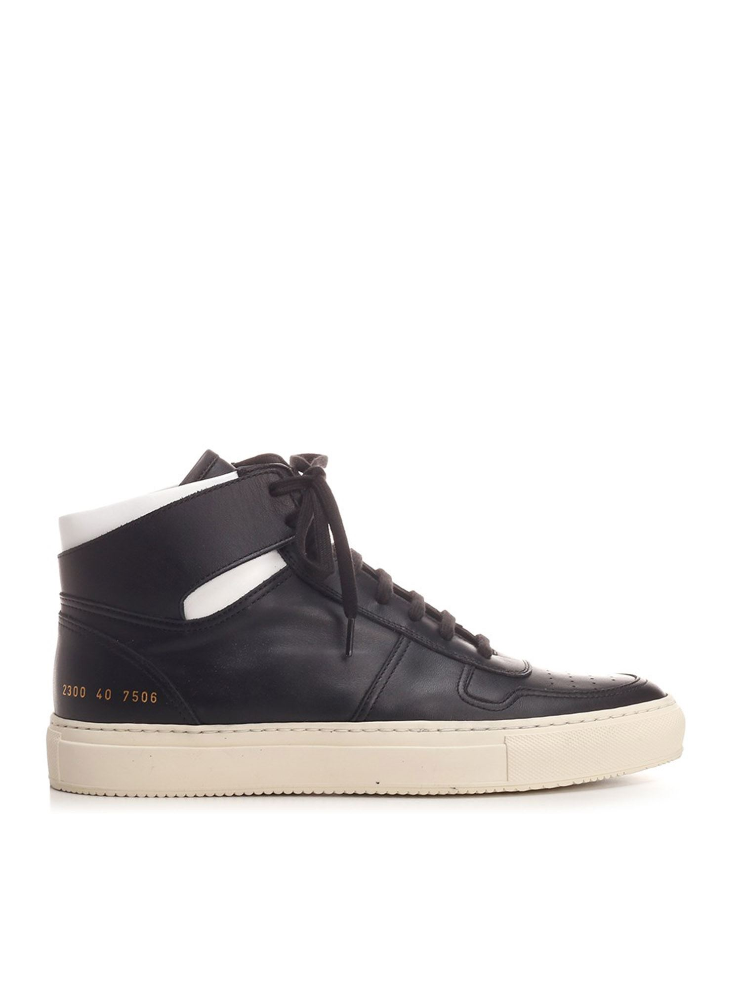 Common Projects Leathers BBALL HIGH SNEAKERS IN BLACK AND WHITE