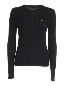POLO Ralph Lauren - Logo embroidery sweater in black