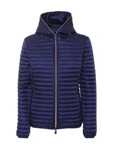 Save the duck - Alexis hooded puffer jacket in blue