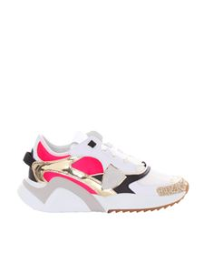 Philippe Model - Eze Low sneakers in white and fuchsia
