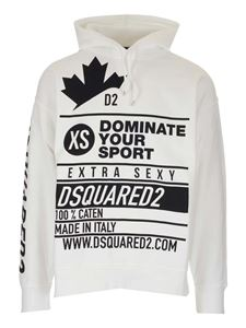 Dsquared2 - Printed hoodie in white