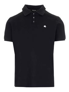 Dsquared2 - D2 Leaf polo in blue
