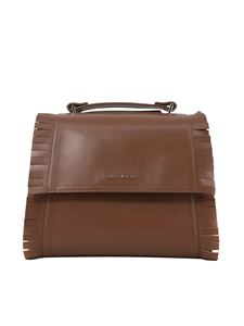 Orciani - Small Sveva bag with fringes in tan color