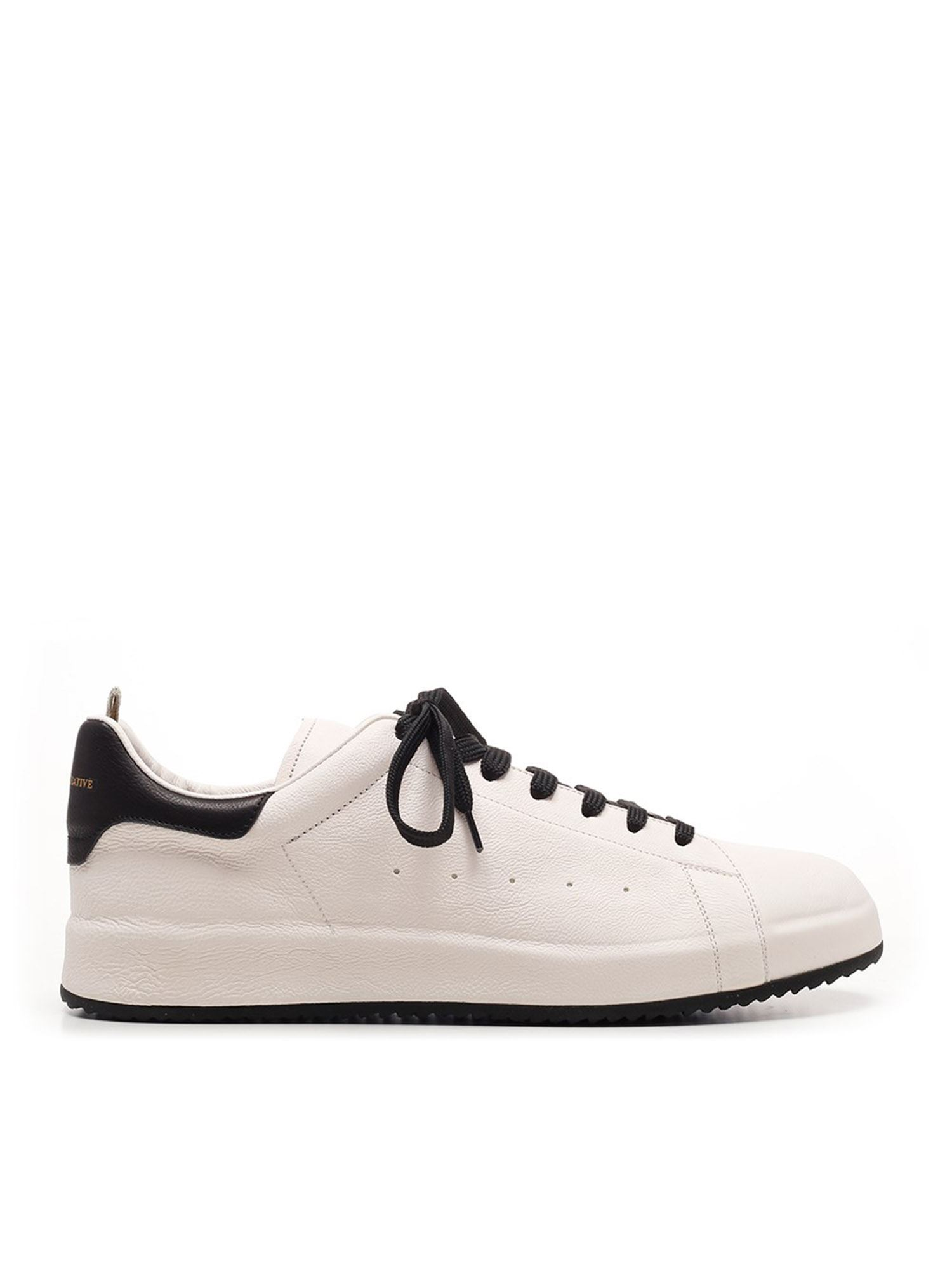 Officine Creative Leathers ACE 1 SNEAKERS IN WHITE AND BLACK
