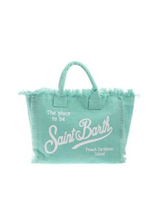 MC2 Saint Barth - Logo print bag in aquamarine color