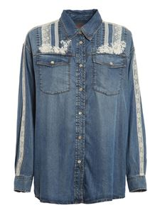 Ermanno Scervino - Lace detailed shirt in blue