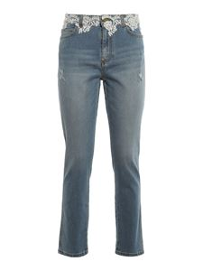 Ermanno Scervino - Lace detailed jeans in blue