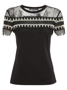 Ermanno Scervino - Lace inserts T-shirt in black