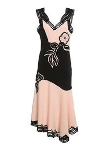 Ermanno Scervino - Floral embroideries dress in pink