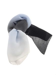 Emporio Armani - Lamé stole in blue, grey and light blue