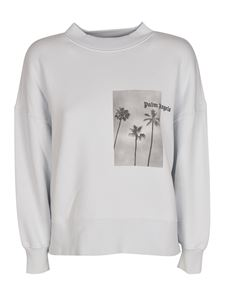Palm Angels - Palm Boulevard sweatshirt in Illusion Blue color