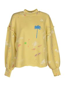 Palm Angels - PXP Sweatshirt in Baby Yellow color