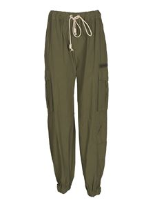 Palm Angels - Cargo trousers in army green