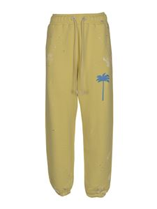 Palm Angels - Sweatpants in Baby Yellow color