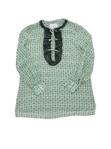 Ermanno Scervino Jr - Printed blouse in white and green