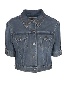 Chloé - Denim crop jacket in Moonlight Blue color