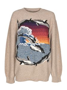 Stella McCartney - Dolphins intarsia sweater in beige