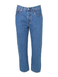 Levi's - 501 cropped jeans in blue