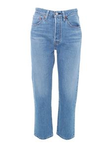 Levi's - 501 cropped jeans in medium blue