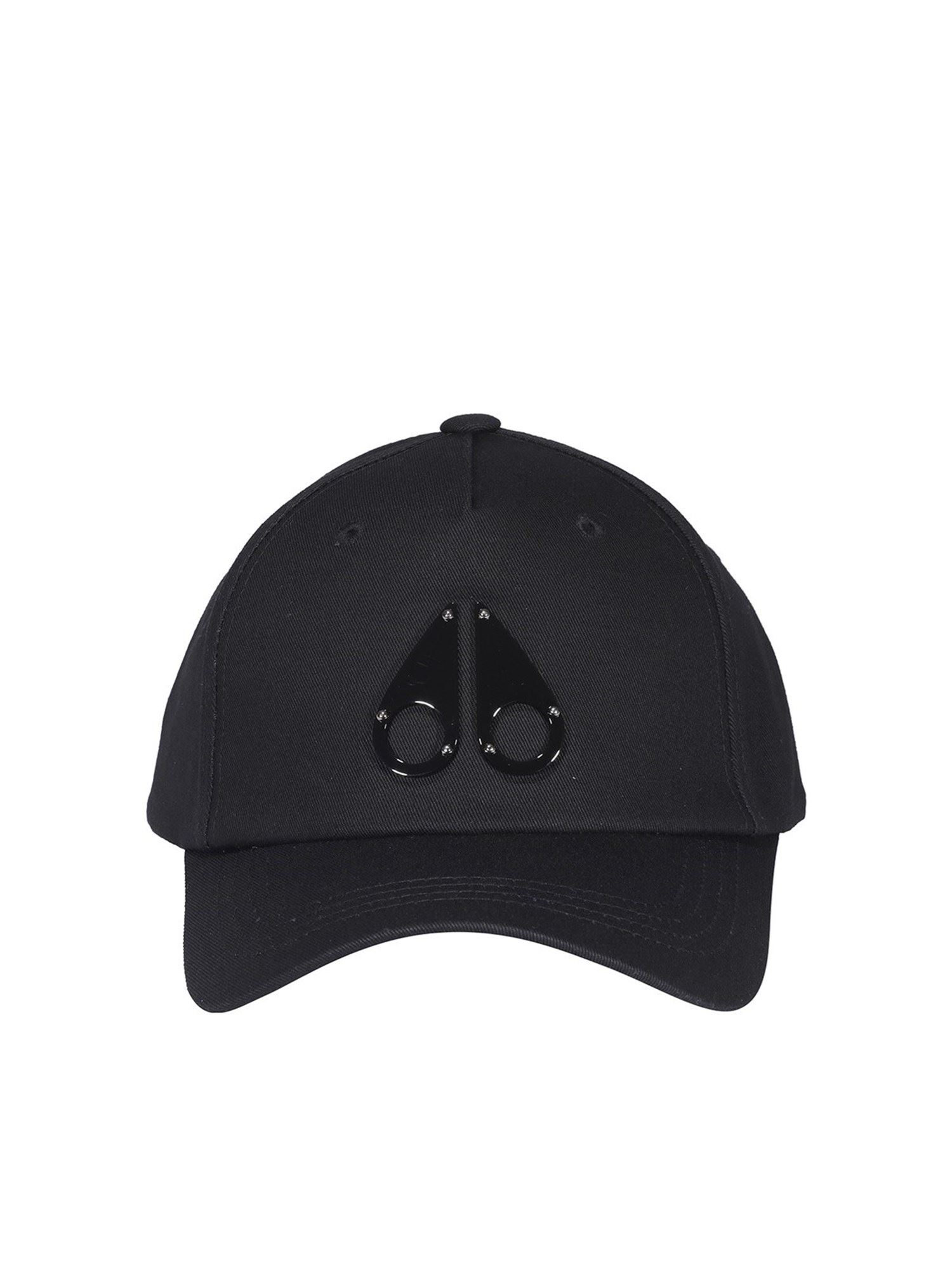 Moose Knuckles COTTON BASEBALL CAP IN BLACK