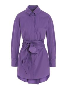 Alexandre Vauthier - Shirt dress in Violet color