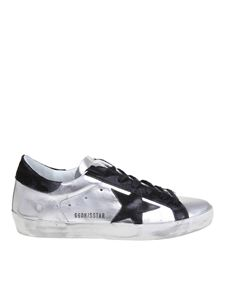 Golden Goose - Superstar sneakers in silver and black