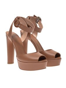 Sergio Levantesi - Viky leather sandals in brown