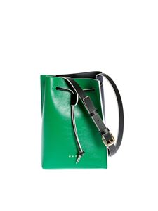 Marni - Museo bucket bag in green and blue