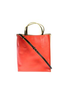 Marni - Museo Soft bag in red and beige