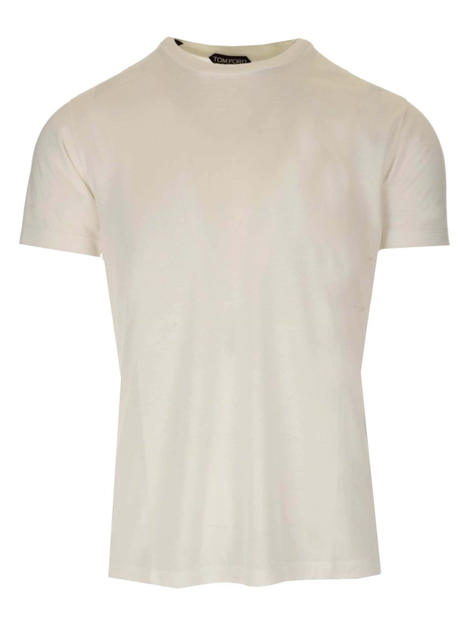 Tom Ford T-shirts CREWNECK T-SHIRT IN WHITE