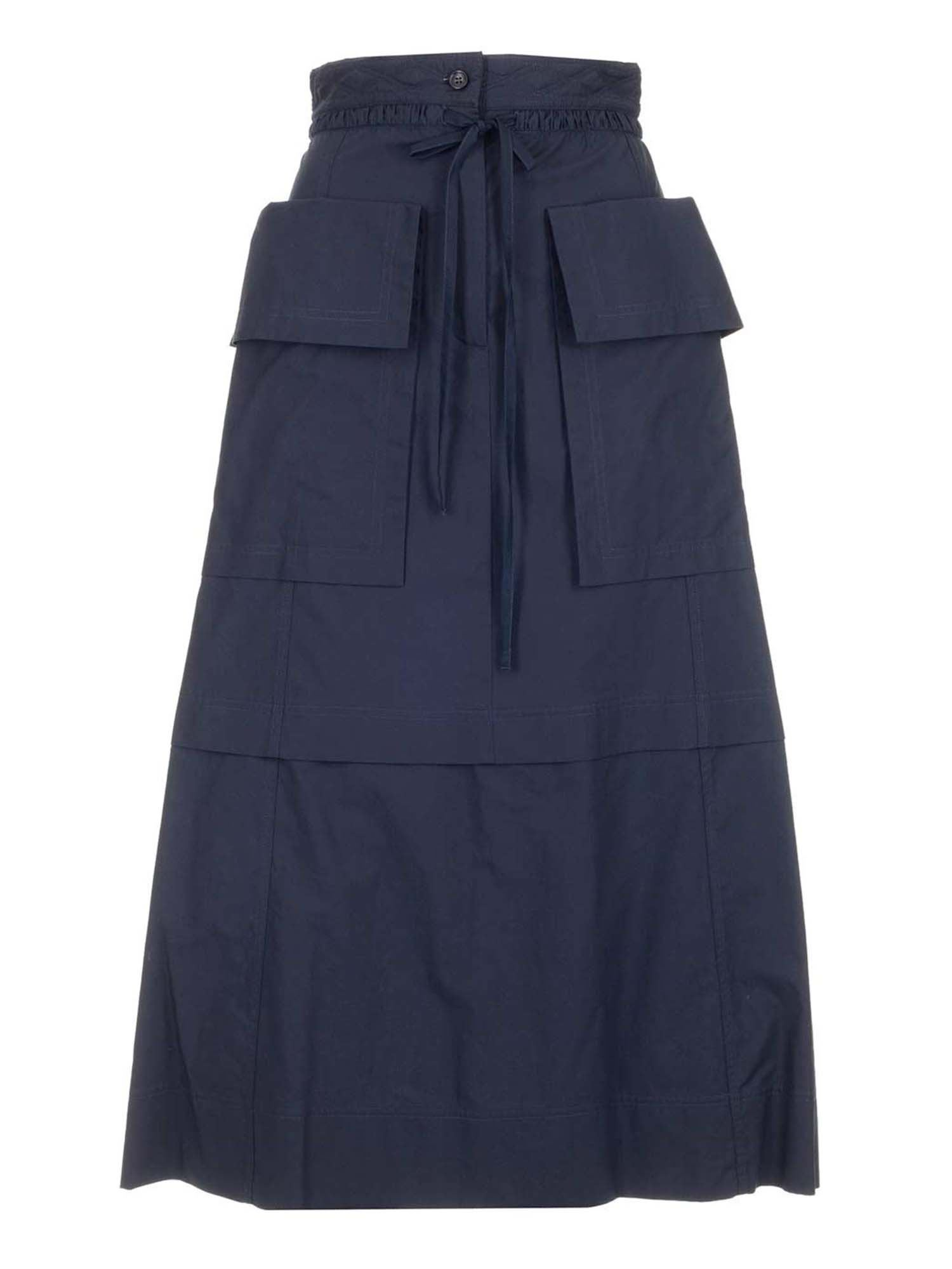See By Chloé Midi skirts MAXI CARGO POCKETS SKIRT IN BLUE