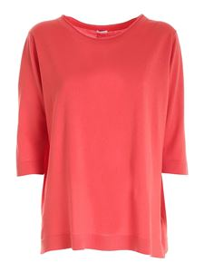 malo - Back slit sweater in red