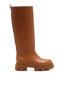 Gia Couture - Combat boot in brown