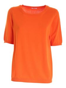 malo - Knitted T-shirt in orange